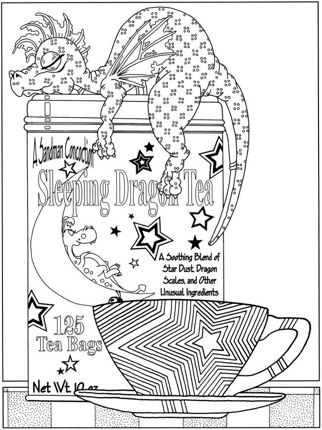 dover childrens book sampler fanciful fairies and dazzling dragons coloring book - Coloring Pages Dragons Fairies