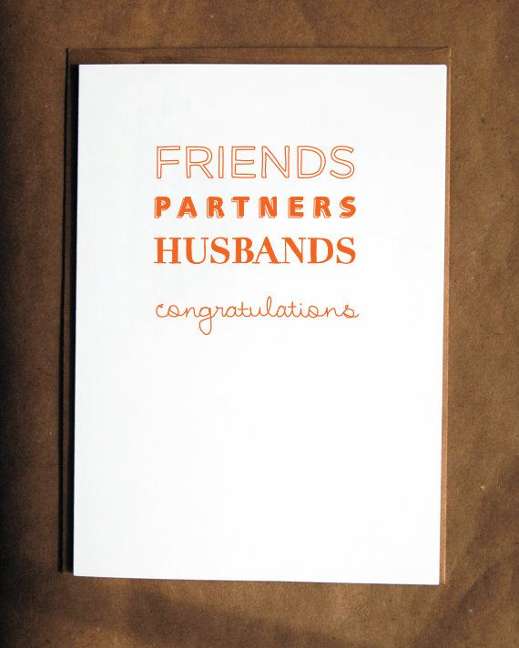 gay wedding card friends partners husbands congratulations
