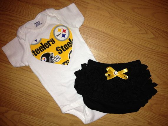 Steelers Baby Clothes Pittsburgh Steelers Girls Outfit  Pinterest  Pittsburgh Steelers