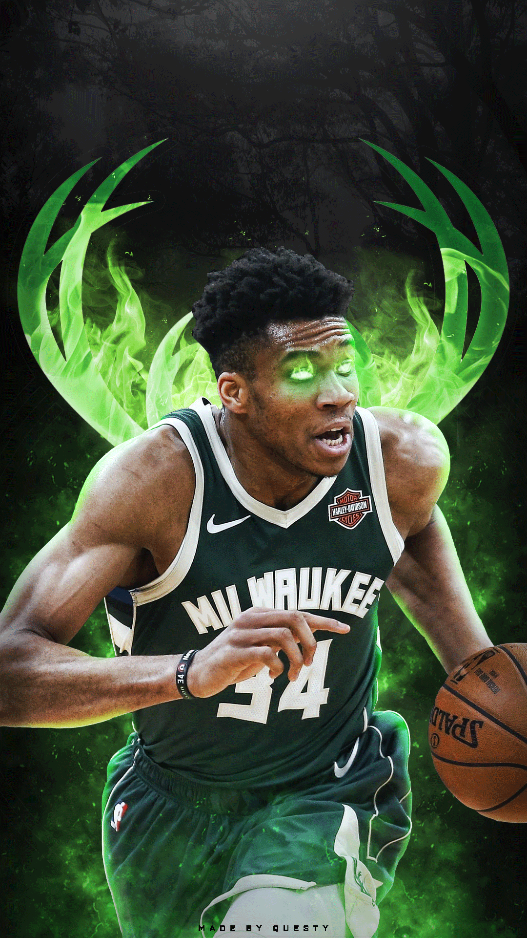 giannis antetokounmpo iphone wallpaper, made by QuestyTv