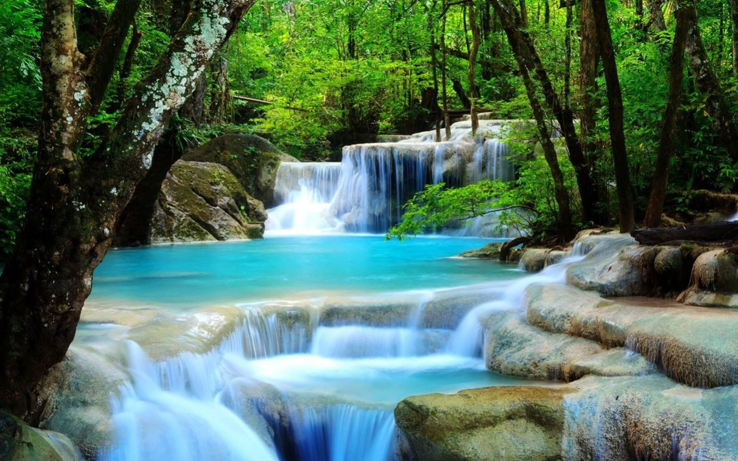waterfall image for desktop wallpaper 2560 x 1600 px 1 2 mb