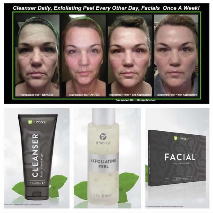 It Works Skin Care Amazing Results Questions Call Text 520 840 8770 Http Bodycontouringwrapsonline Com It Works Facials It Works Products Exfoliating Peel