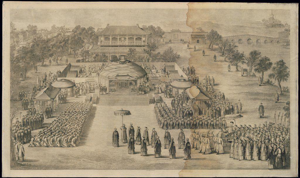 Un banquete de la victoria ofrecido por el emperador a los oficiales y soldados distinguidos — Visor — Biblioteca Digital Mundial