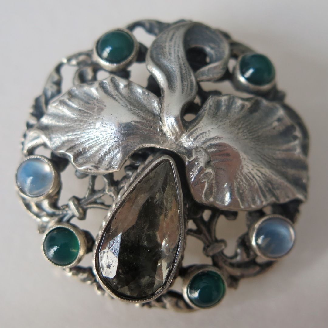 paula bolton products by moonstone and mackintosh in silver a brooch design