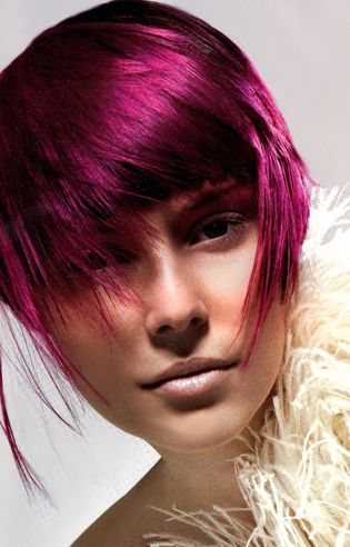 Fuchsia Hair Color Hair Cutscolorsstyles Dyed Hair Hair