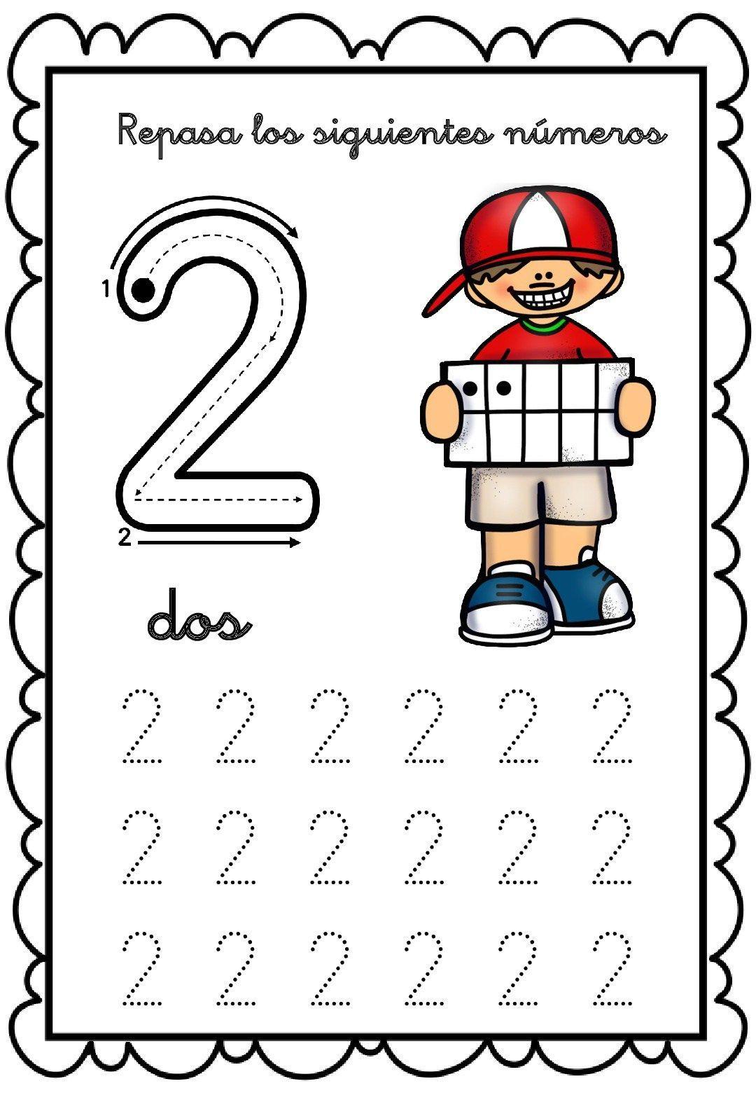 Image Result For Numero 2 Para Colorear Preescolar
