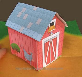 Extreme Cards And Papercrafting Pop Up Barn Paper Crafts Pop Up Cards Toy Barn