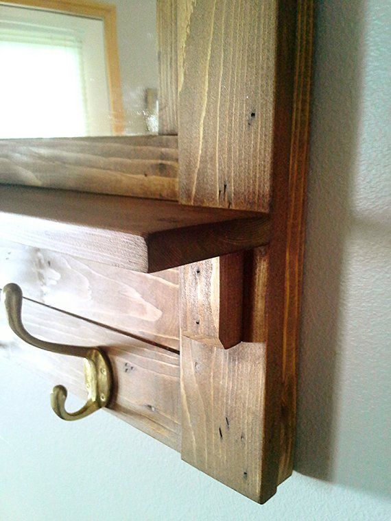 Coat Rack Wall Coat Rack Mirrored Coat Rack Rustic Coat Etsy