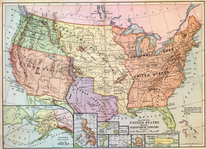 In 1803 the Louisiana Purchase ceded the territory in yellow