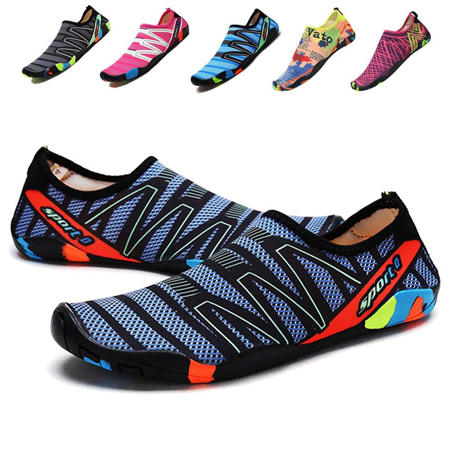 694f54f77700 Sanyge Breathable Mens Womens Water Shoes Beach Swim Shoes QuickDry Aqua  Socks Pool Shoes for Surf