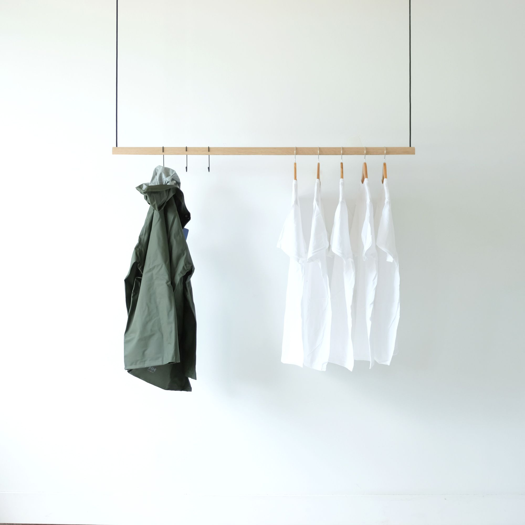 Hanging Clothes Rack Natural Clothing Rack Hanging Clothes