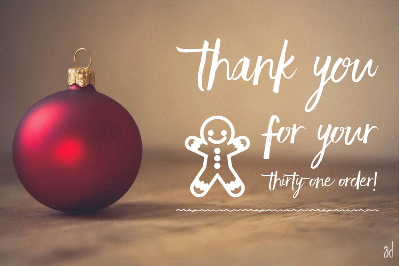 Thank You For Your Thirty One Christmas Order Thirty One Facebook Thirty One Gifts Thirty One Fall