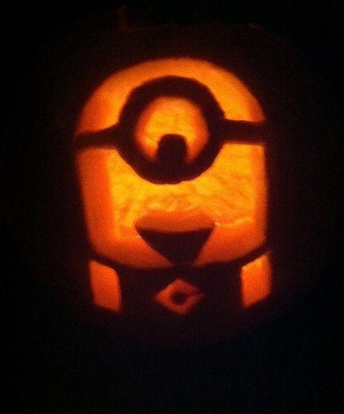 Minion Jack O Lantern Minion Pumpkin Minion Pumpkin Carving Pumpkin Carving