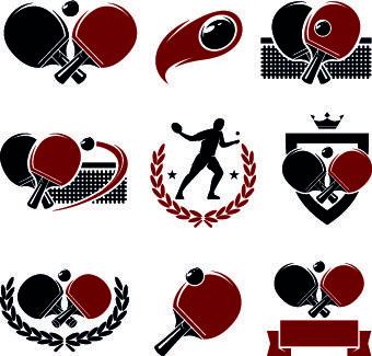Table Tennis Logos Illustration Design Vector Logo Illustration Design Table Tennis Vector Logo