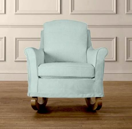 kids upholstered rocking chair dining table chairs set of 4 restoration baby and child honey s old lady pinterest nursery babies