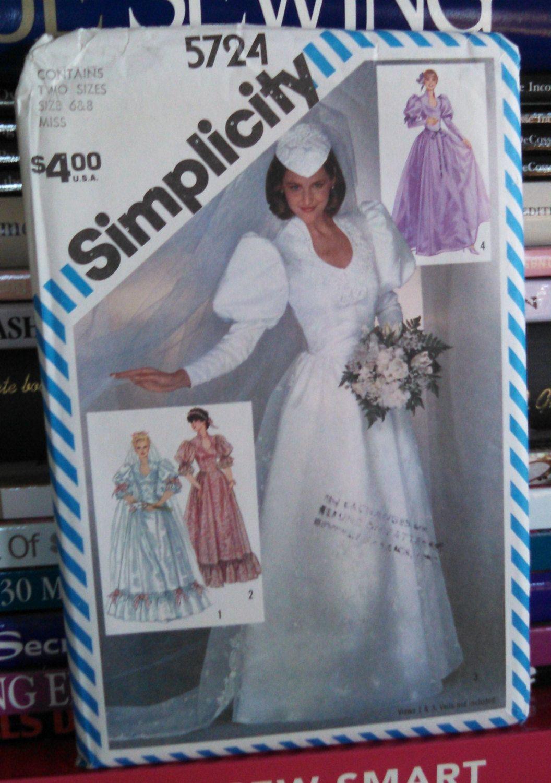 simplicity sewing pattern vintage wedding dress