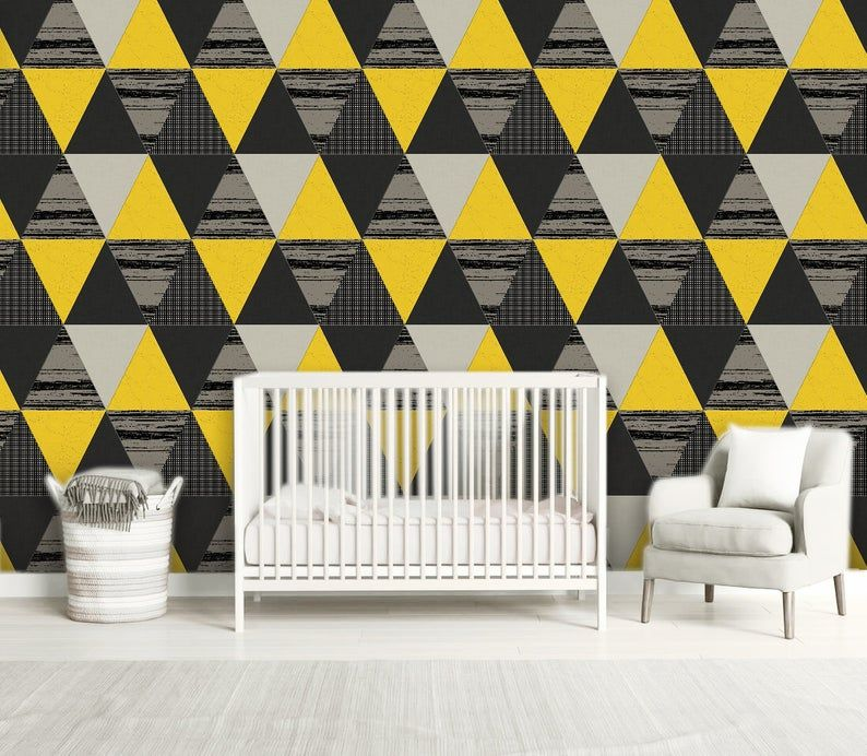 Cloquet Peel And Stick Wallpaper Panel Fabric Wallpaper Yellow Wallpaper Peel And Stick Wallpaper