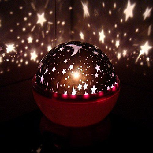 Vshare Night Lighting Lamp Light Romantic Rotating Cosmos Star Sky Moon  Projector Rotation Night Projection Lamp