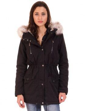 Abrigo largo capucha de Only