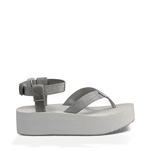 b2565545dfe Teva Womens W Flatform Ankle Strap Sandal Silver 9 M US     Check out this  great product.