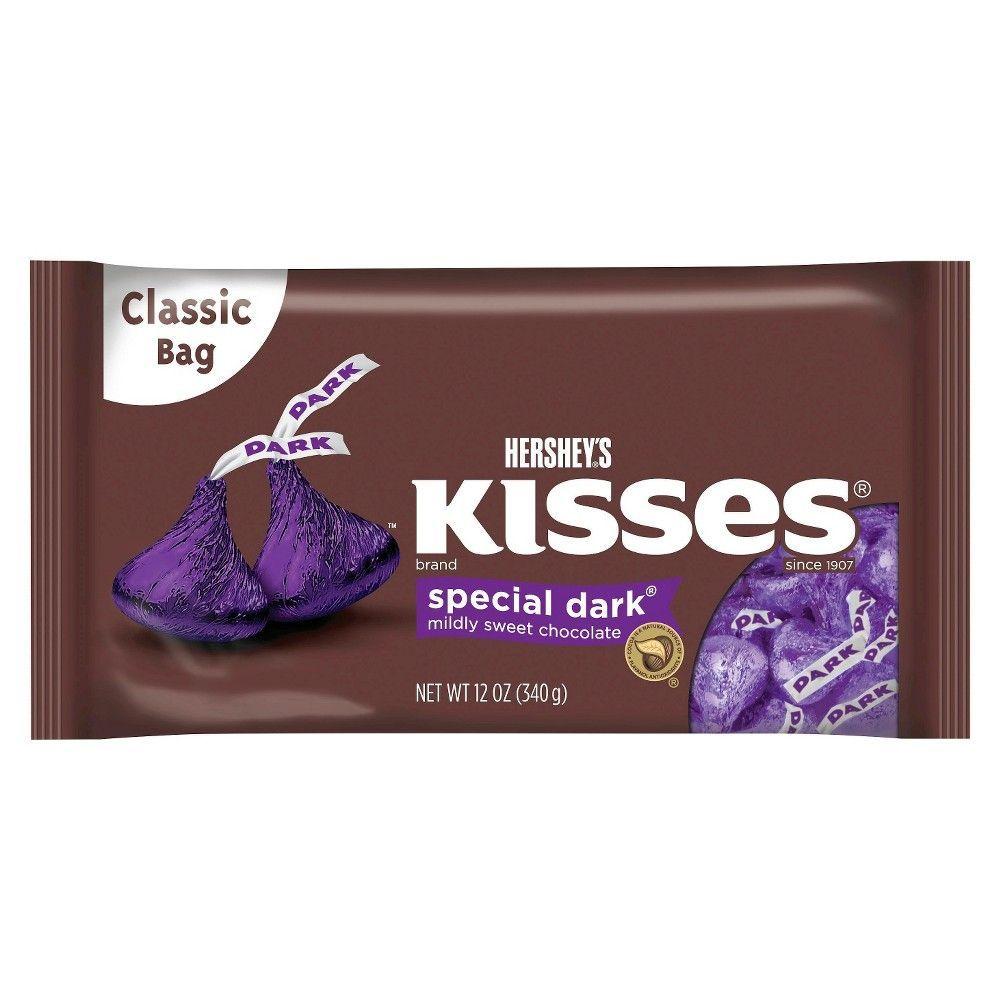 Hershey S Kisses Special Dark Mildly Sweet Chocolate 12 Oz