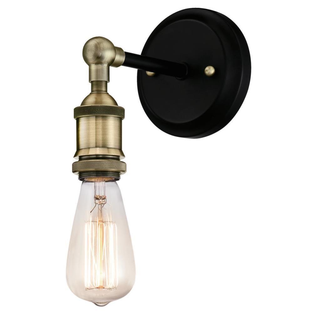 Westinghouse 1 Light Antique Brasatte Black Wall Mount Sconce 6349700 The Home Depot