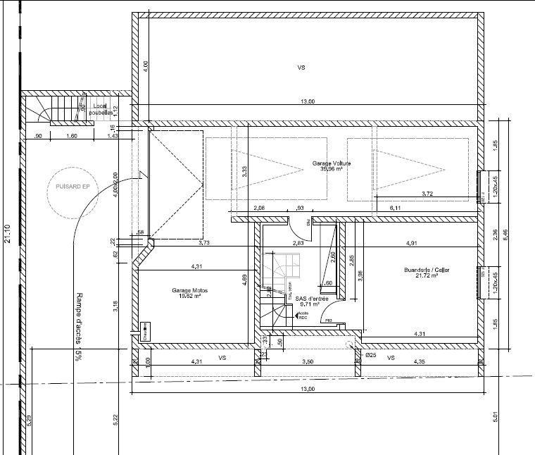 Plan du sous sol Maison - 5 chambres Pinterest Sous sol - plan maison m chambres