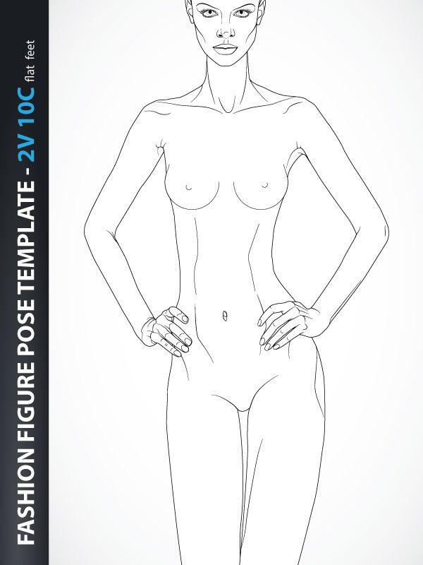 fashion design drawing catwalk front back 10b2n sketching