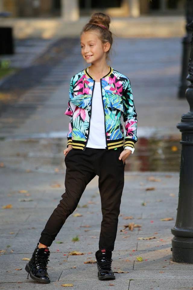 Qba Kids Bluza Bomberka Kwiaty Falbanka Hawaii 164 7576405684 Oficjalne Archiwum Allegro Dance Outfits Clothes Fashion