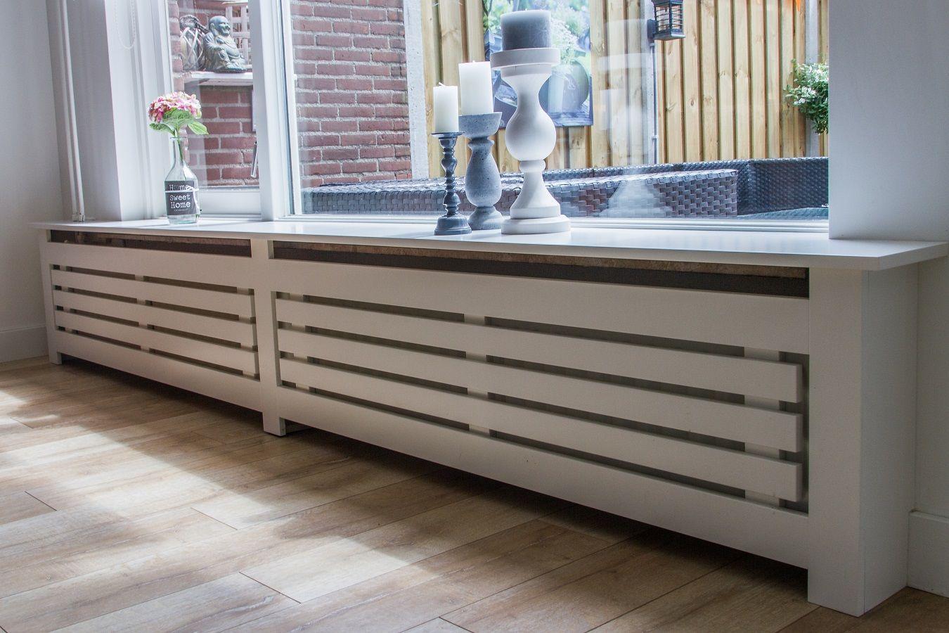 radiatorombouw mooi voor onze woonkamer !!! | vensterbank idee ...