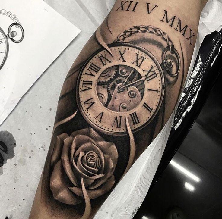 Tres Beau Tattoo Tatouage Horloge Tatouage Tatouage Mahori