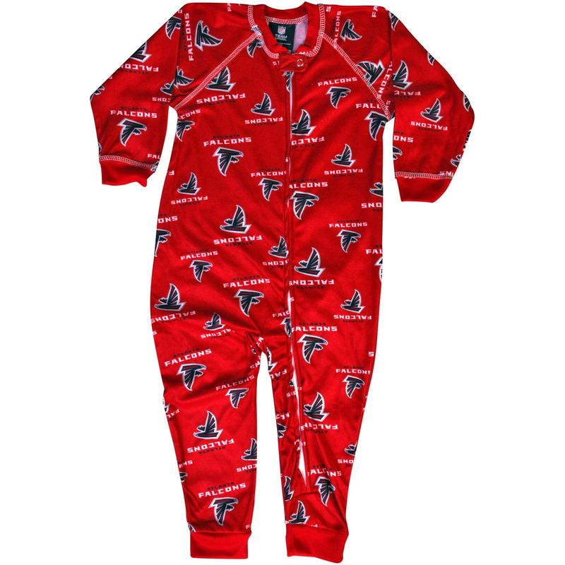 bd0b1531 Atlanta Falcons Toddler Piped Full Zip Raglan Coverall - Red ...