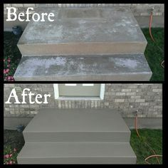 front stairs needed to be redone! valspar cement/porch paint