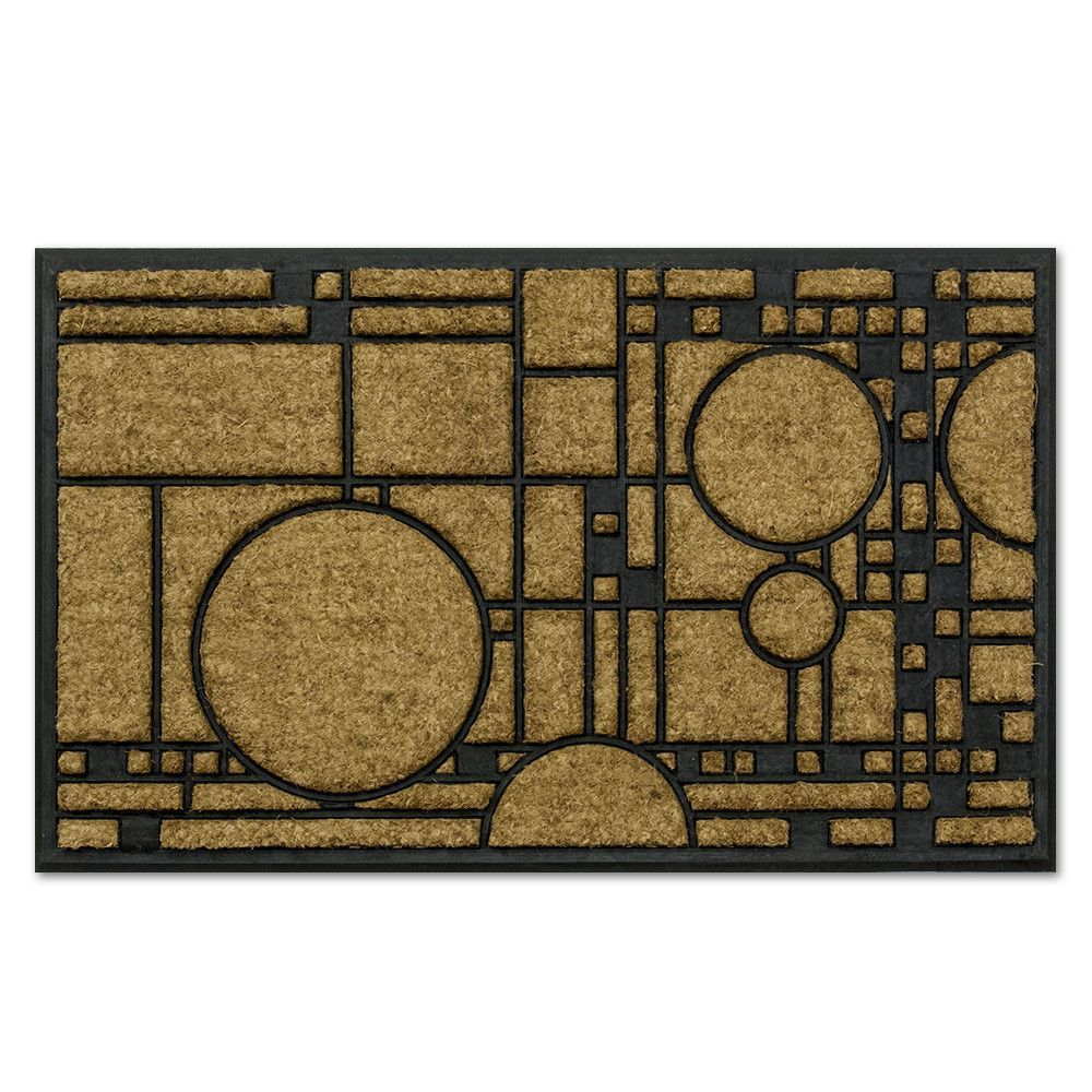 Craftsman style fireplace screen - Frank Lloyd Wright Coonley Playhouse Doormat
