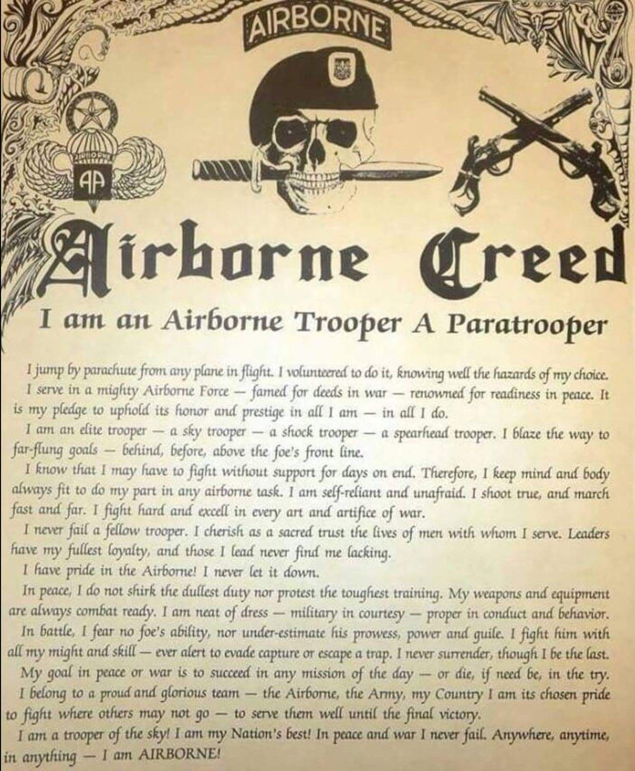 AIRBORNE!!!! | Military Honor | Airborne army, Paratrooper