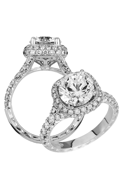 Jack Kelége - Jack Kelége Diamond Ring Semi-Mount from Osterjewelers.com