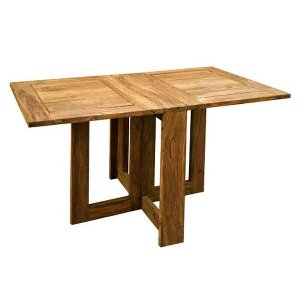 Wunderbar Esstisch 130x80cm Klappbar Aus Massivholz Palisander Natur   Modell Lenz  Wohnen U0026 Schlafen Tische Esstische