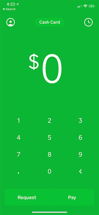 Square Cash Review Cards, App