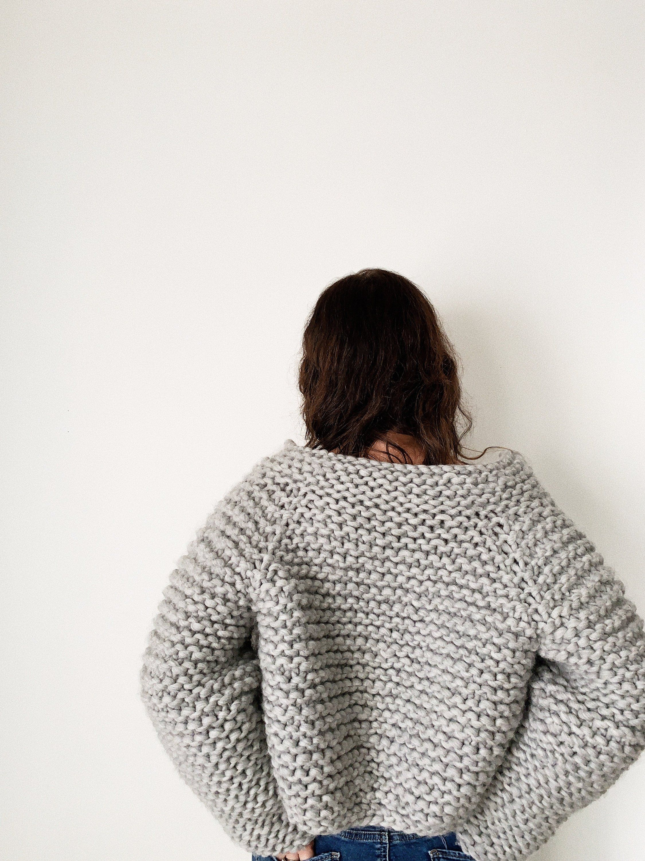 Beginner Friendly Knitting Pattern Gallant Sweater Chunky cropped ...