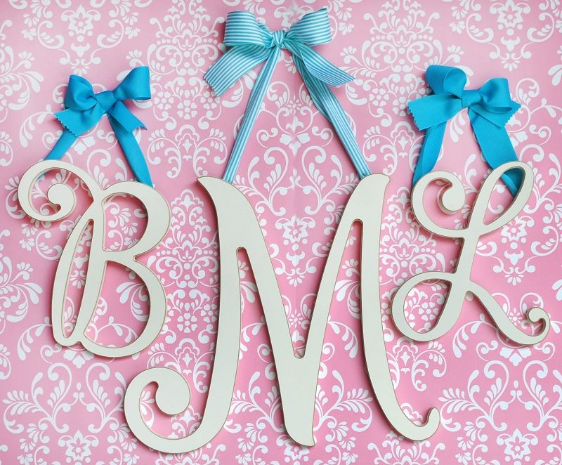 beautiful cursive wall letters for a nursery or girls