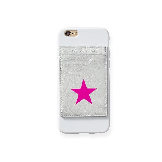 Leather Phone Sticker Card Case, Shadow Printed