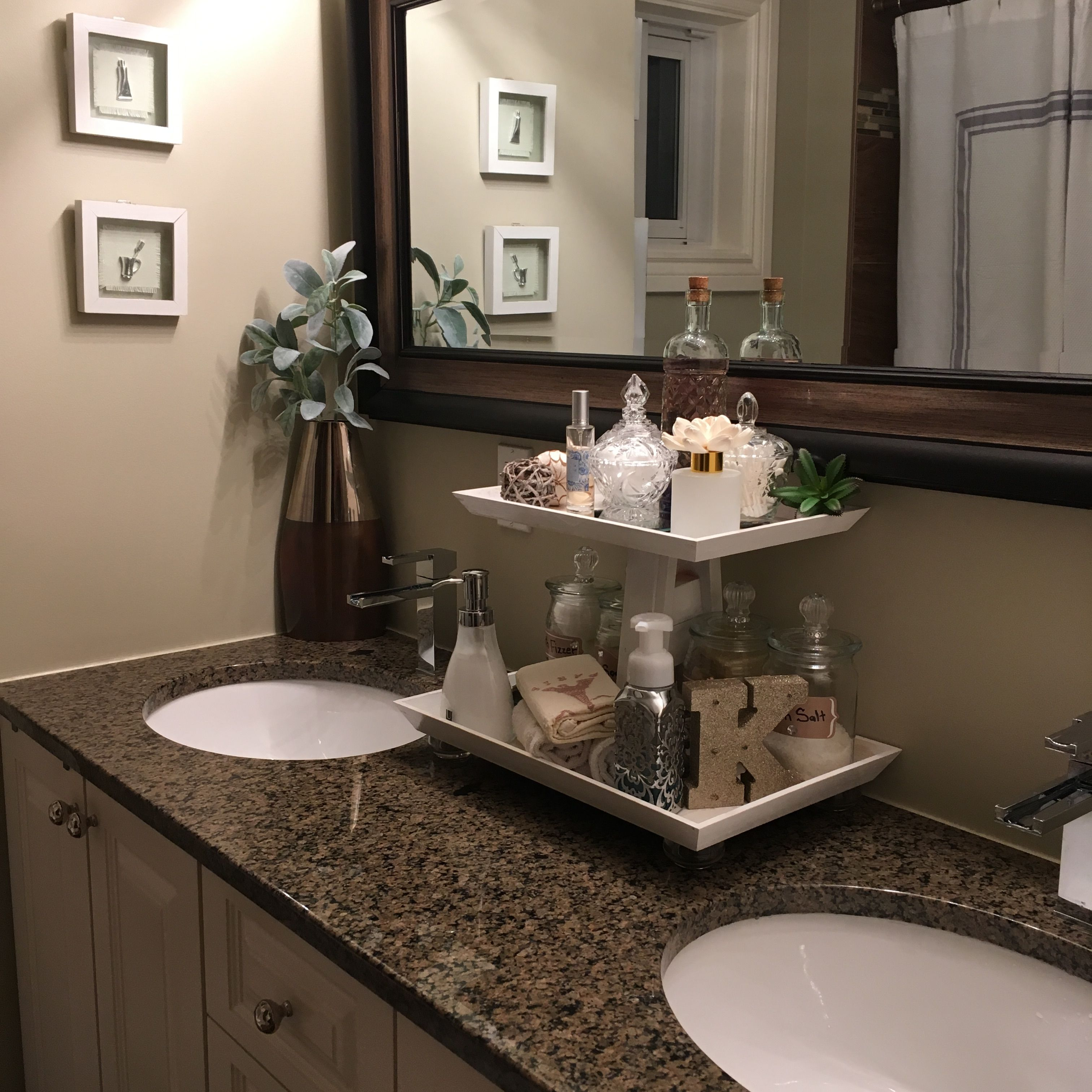 Pin By Kimberly Rodriguez Nadal On Eleven Hundred Bathroom Counter Decor Spa Bathroom Decor Bathroom Tray