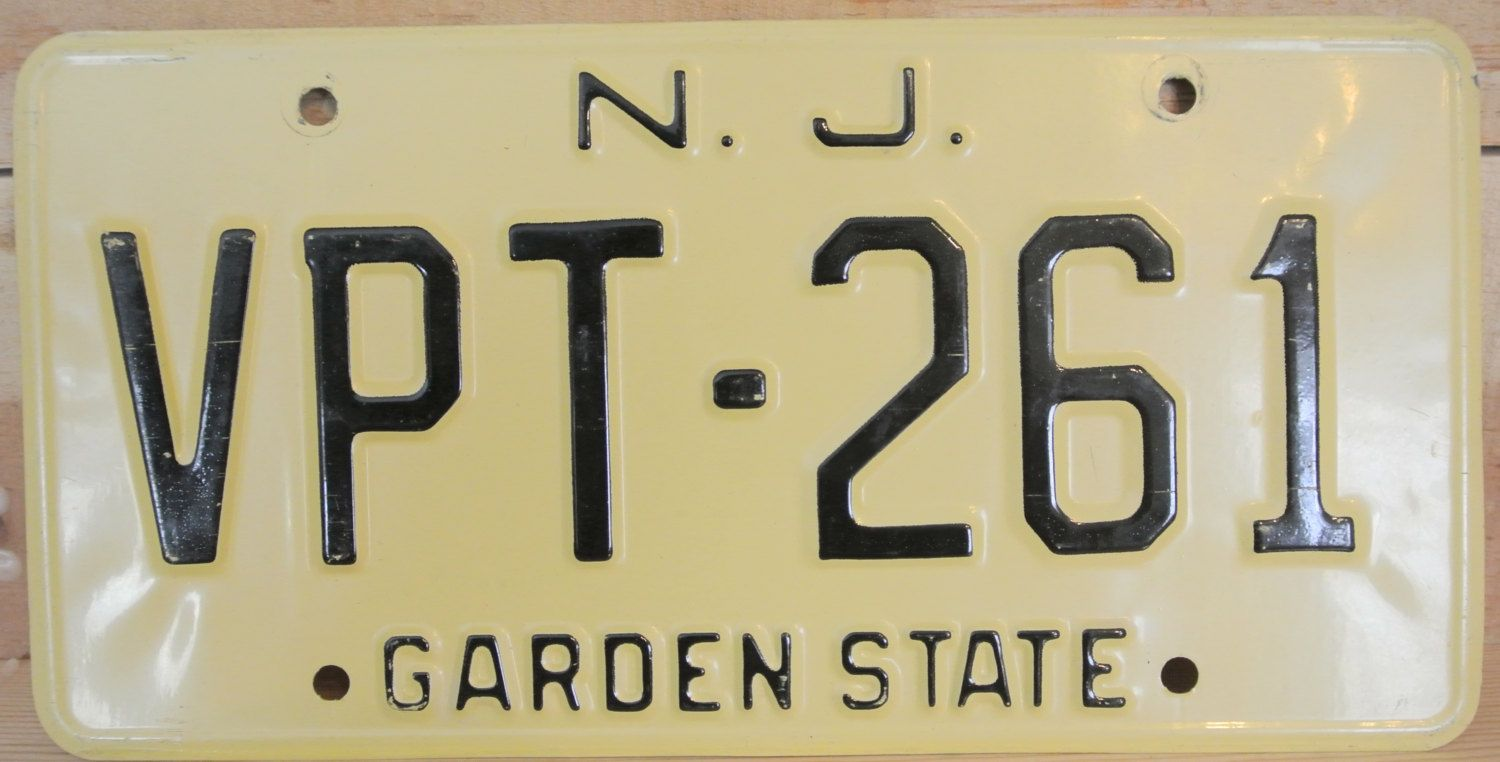 Vintage License Plate, New Jersey License Plate, Metal Wall Decor ...