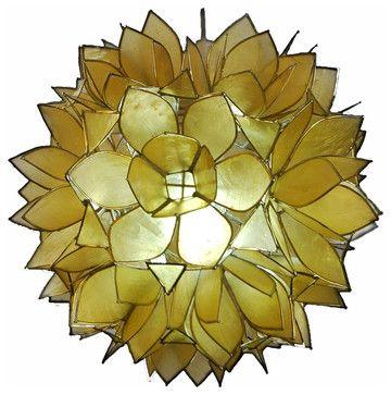 tropical pendant lighting. Capiz Lotus Pendant Light - Tropical Lighting Other Metro ArmoiredeFer Decor Shop
