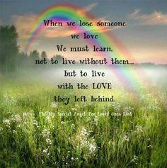 When We Lose Someone We Love