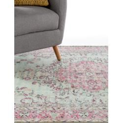 Photo of benuta Trends rug with print Jelle Lila 200×290 cm – vintage rug in used look