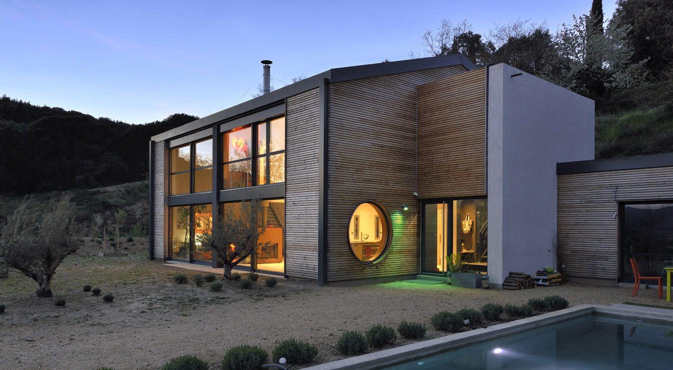 Superbe Maison Gico En Ossature Bois Avec Un Bardage Prépeint Et Des Menuiseries  PVC Blanc | Maisons Bois Gico   Ossature Bois | Pinterest