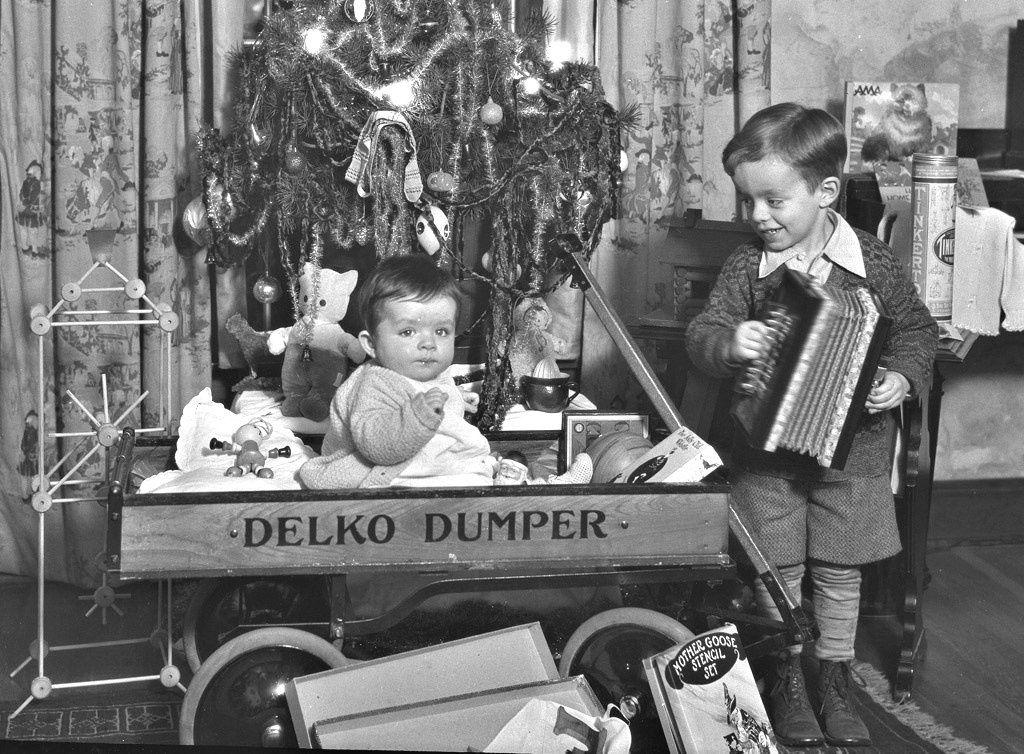 Vintage Christmas Photograph 1928