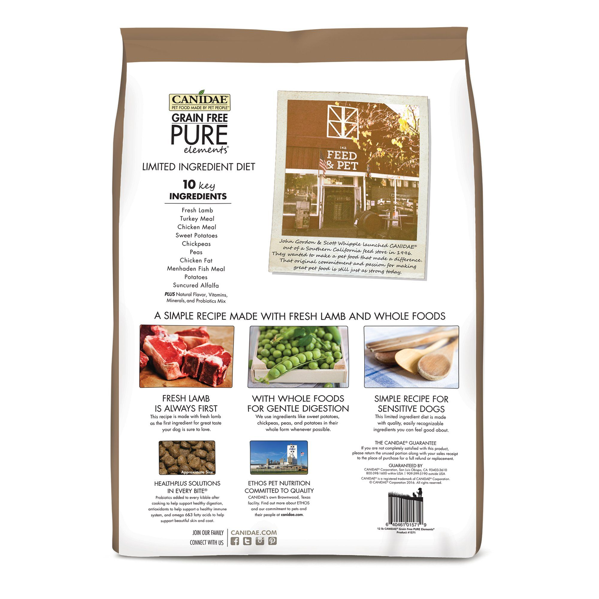 Canidae Pure Grain Free Limited Ingredient Real Lamb Pea Dry Dog