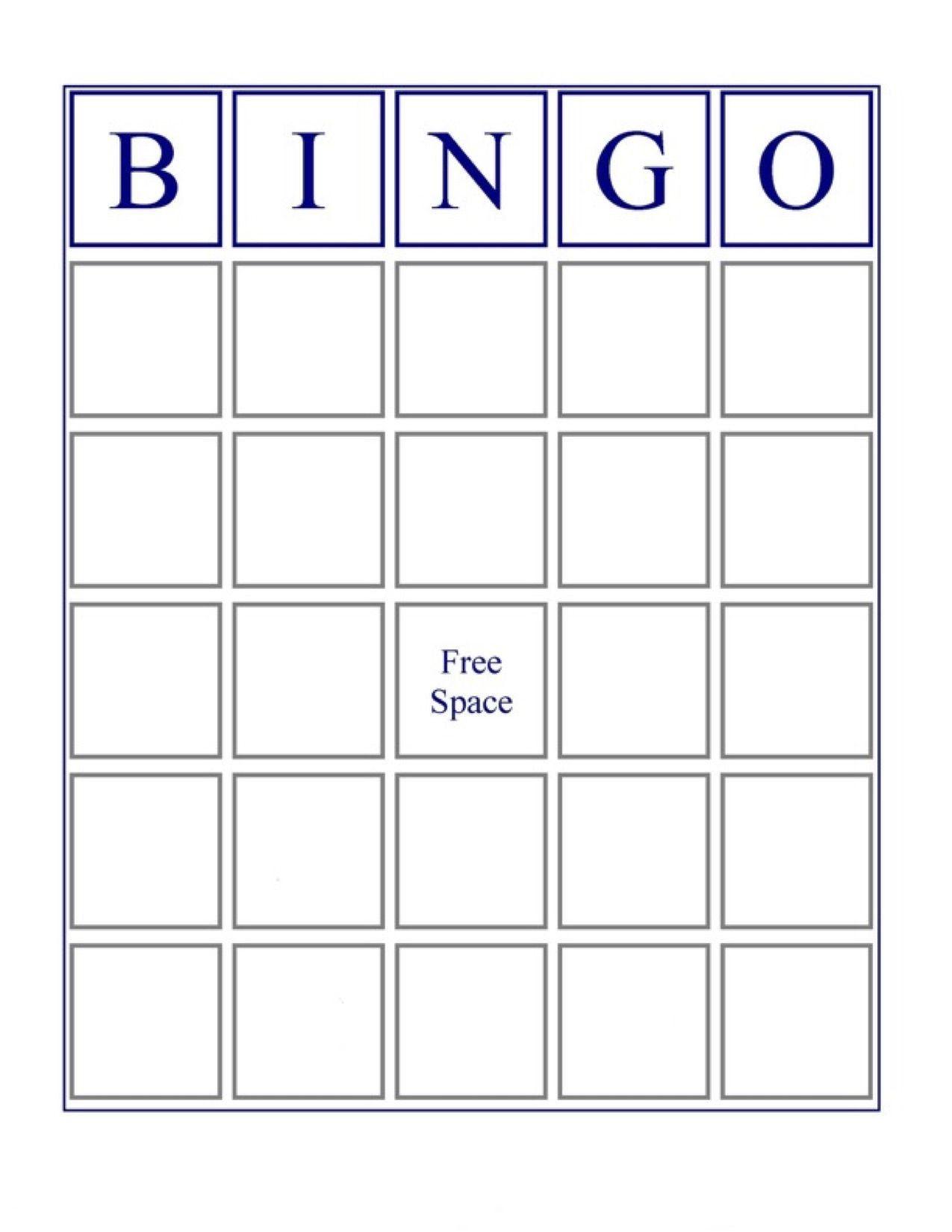 The Excellent Blank Bingo Card Inspirational Pin On Sinif Esyalari Pertaining To Bingo Car In 2020 Bingo Cards Printable Bingo Card Template Free Printable Bingo Cards